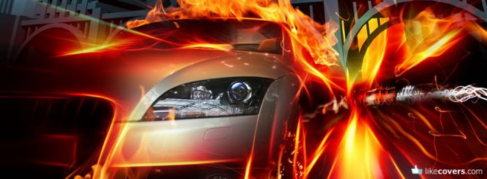 Audi Fire Flames Facebook Covers