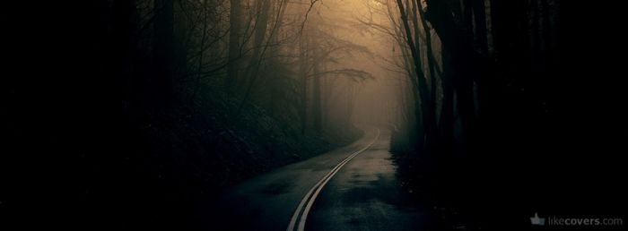 Dark Creepy Road Facebook Covers