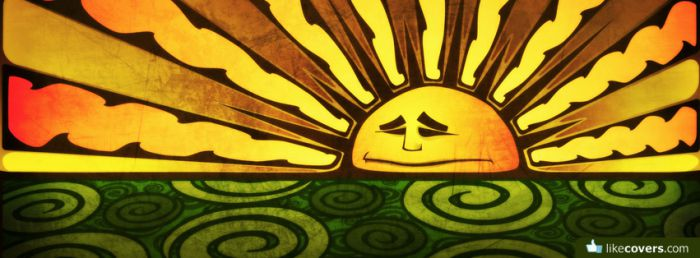 Hippy Sunset Facebook Covers