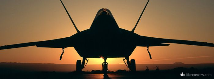 Military Jet in the Sunset Facebook Covers