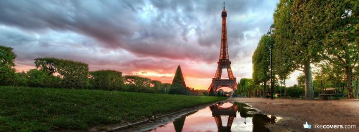 Paris Eiffel Tower Sunset