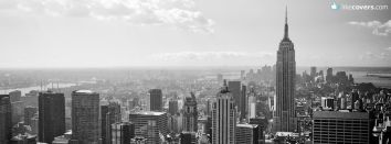 City Downtown Black and White Skylines