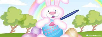 Happy Easter Bunny Painting Egg
