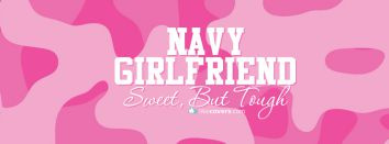 Navy Girlfriend Sweet But Tough Pink Camo