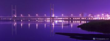 Purple Night River Bridge