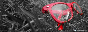 Red Glasses in Grass