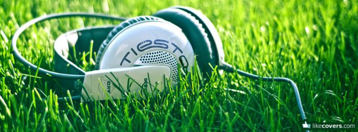 Tiesto Headphones in the grass